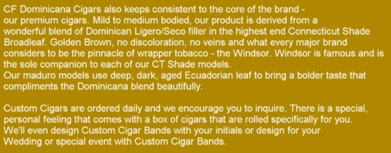 Cigars Review and opinion